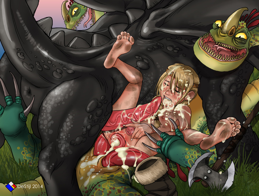 how your sex dragon astrid to train Puzzle and dragons