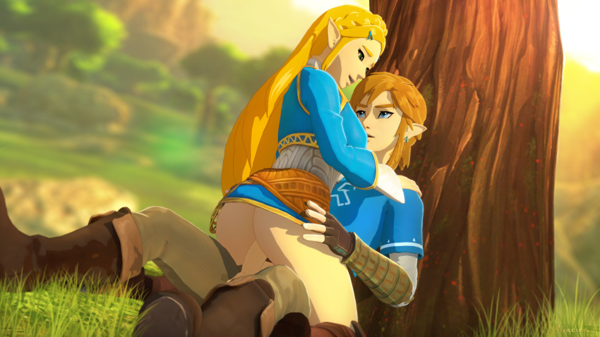 breath of link wild the naked Pinkie pie and pokey pierce